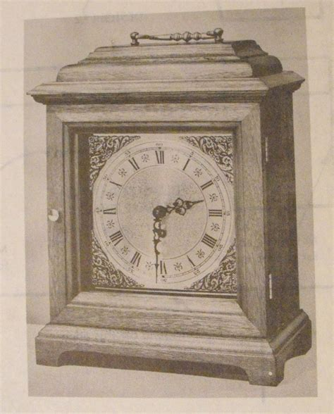 anh halifax bracket clock vintage woodworking plan