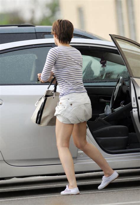 emma watson car emma watson upskirt while leaving a car in new york city