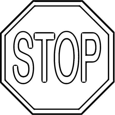 stop sign coloring pages az coloring pages