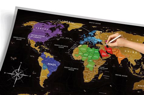 map world scratch scratch map black scratch countries you ve been to