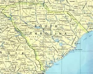 road map carolina south carolina maps