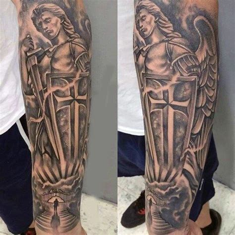 guardian angel tattoo sleeve designs 13 best michael images on sleeve