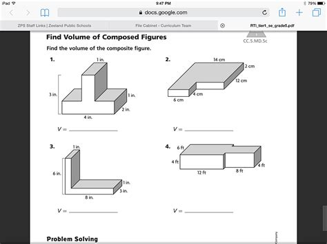 Volume Of Composite Figures Worksheet showme go math volume of the composite figure 11 11