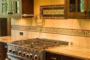 arts and crafts tile backsplash kitchen