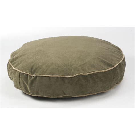 round dog beds bowsers supersoft platinum round dog bed