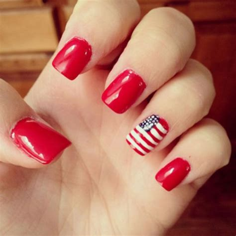 red acrylic 4th of july nils 50 adorable fourth of july nail art ideas