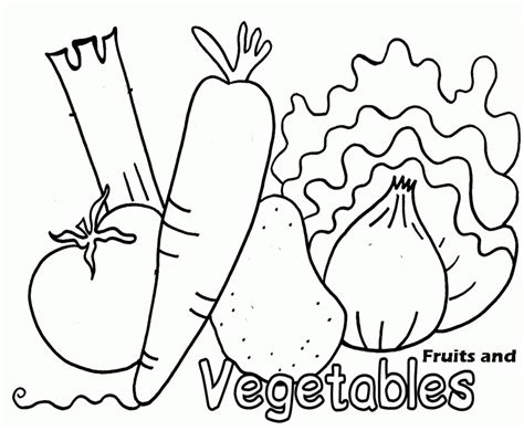coloring book pages of vegetables fruit and vegetable coloring pages free coloring pages