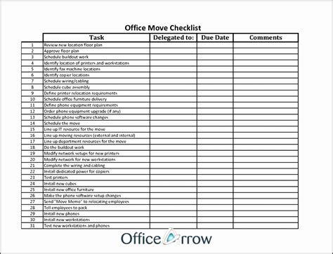 office relocation checklist template 17 office move checklist template free besttemplates