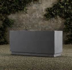 Restoration Hardware Planters by Concrete Box Planter Garden Ideas Pinterest