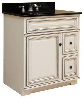 assembled bathroom cabinets sanibel 30 quot assembled vanity 1 door 2 drawers