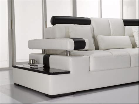 Modern White Leather Sectional Sofa Modern Sofa Collection