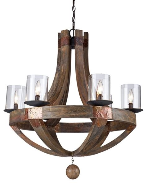 Lodge Chandelier Rustic Lodge Artcraft Hockley 30 Quot Wide Pine Wood Chandelier Traditional Chandeliers By