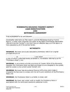 Loan Modification Agreement Template by Loan Extension Agreement Fill Printable