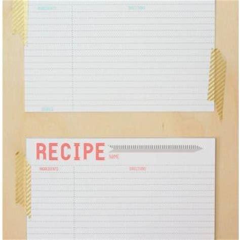 blank recipe cards nz blank recipe cards tip junkie