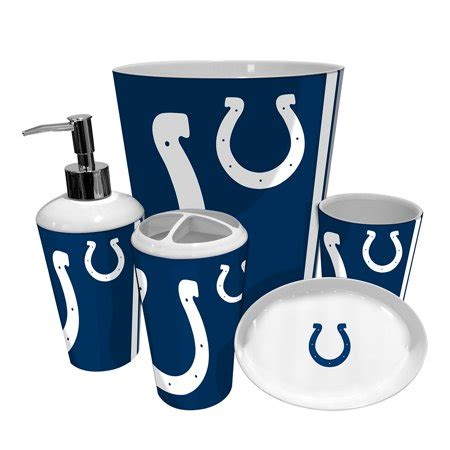 indianapolis colts nfl complete bathroom accessories 5pc