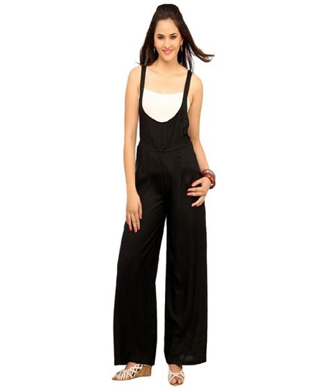Jumpsuit Katun Rayon Buy Cottinfab Black Rayon Jumpsuits At Best Prices