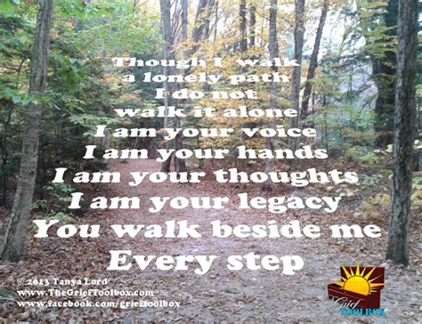 how to your to walk beside you you walk beside me every step a poem the grief toolbox