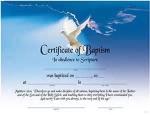 baptism certificate item 065350