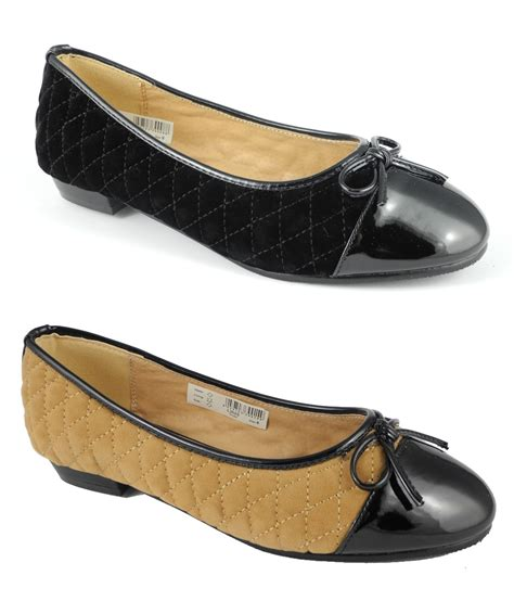 womens wide  fit leather lined pumps flat ballerina shoes