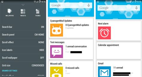 home launcher for android cyanogenmod accueille cm home un launcher style now