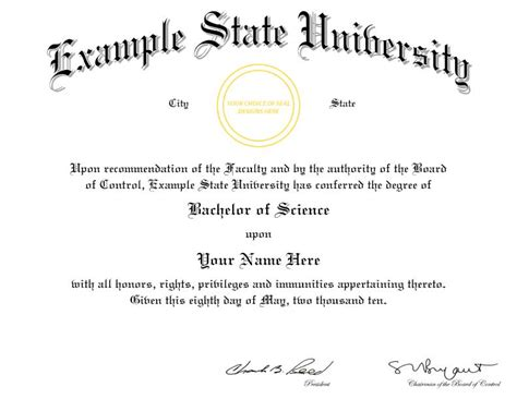 degree template college diploma templates images