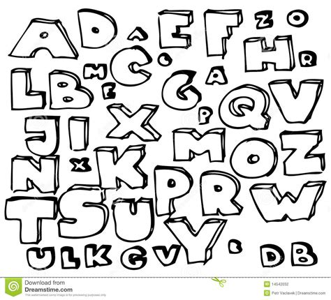 Water Doodle Alphabet Card doodle alphabet stock photography image 14542032