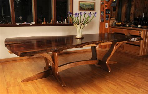 walnut dining table plans walnut slab and white oak dining table finewoodworking