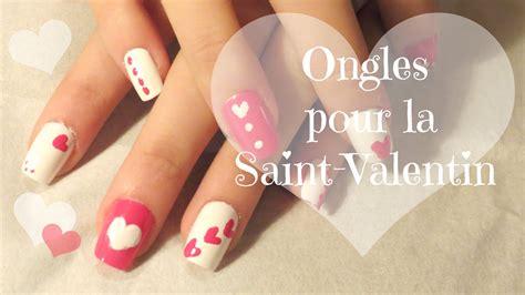 Modele Ongle En Gel Valentin by D 233 Co Ongle St Valentin