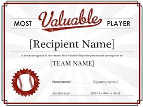 Basketball Mvp Certificate Template by Most Valuable Player Award Certificate Template Formal