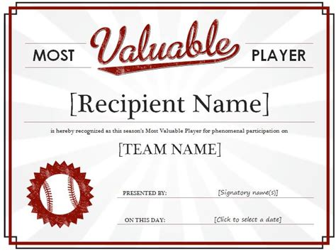 basketball mvp certificate template most valuable player award certificate template formal