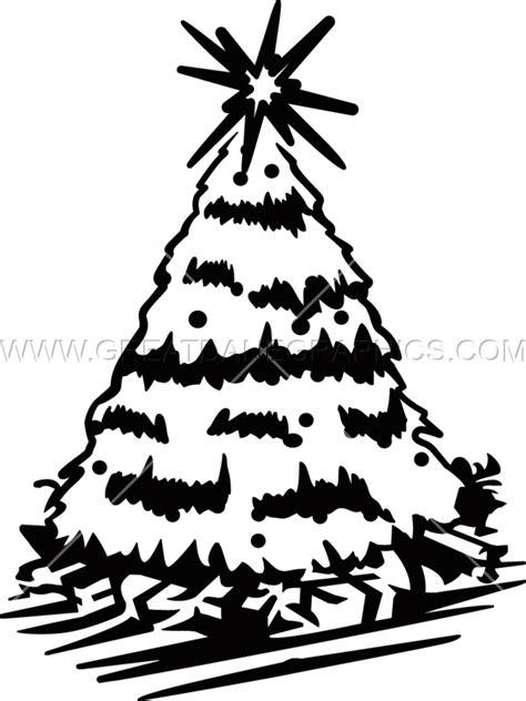 christmas tree production ready artwork for t shirt printing