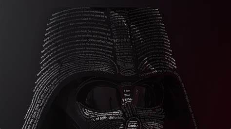 Darth vader star wars movies typographic portrait