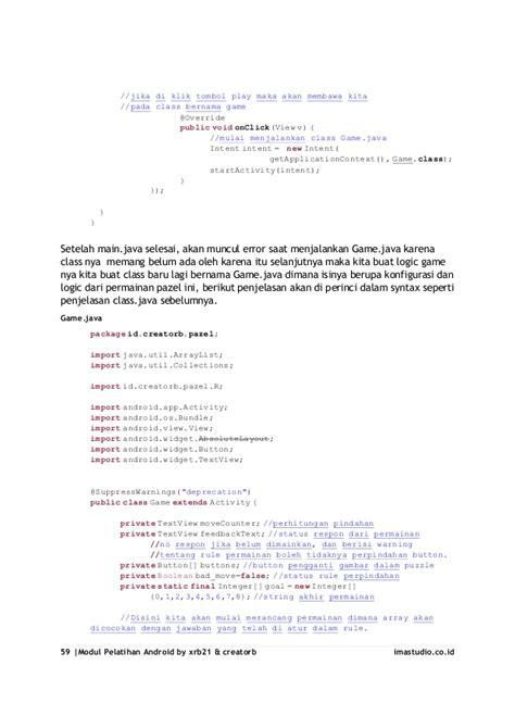 cara membuat game android lengkap tutorial lengkap cara membuat aplikasi android sederhana