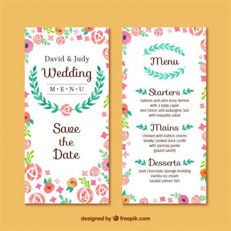 Wedding Invitation Freepik by Floral Wedding Invitation Card Free Vector My Freepik