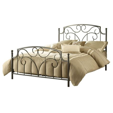 Pewter Bed Frame Hillsdale Furniture Cartwright Magnesium Pewter Bed Frame 1009bfr The Home Depot
