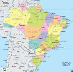 south america brazil map political map of brazil ezilon maps
