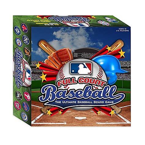 bedroom baseball board game mlb full count baseball board game bed bath beyond
