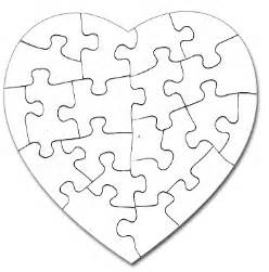 Puzzle Template 20 Pieces by In My Philosophical Corner Thepinknotebook