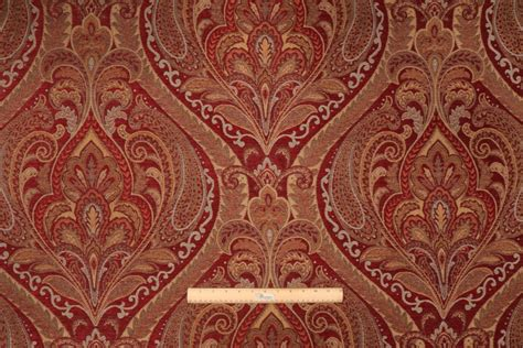 Mill Creek Upholstery Fabric by Madone In Ruby Tapestry Upholstery Fabric By Mill Creek