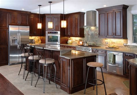 kitchen with dark cabinets brown kitchen cabinets modification for a stunning kitchen