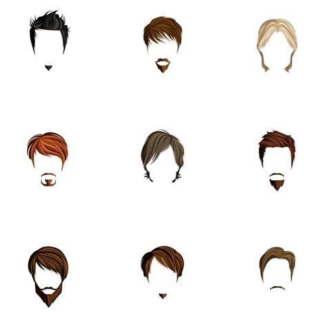 male hair templates for photoshop coiffure homme icons collection t 233 l 233 charger des vecteurs