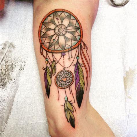 coloured dreamcatcher tattoo 27 dream catcher tattoo designs ideas design trends