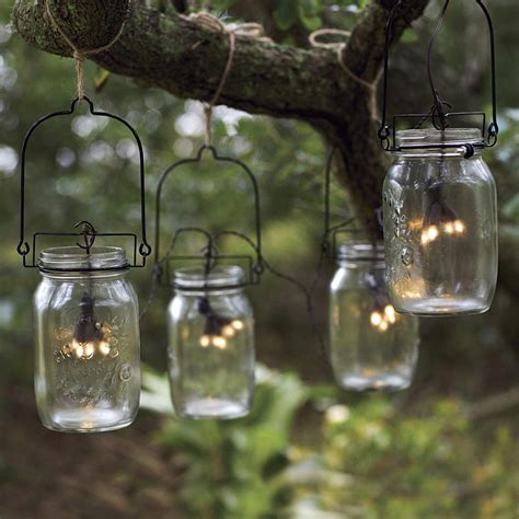 Glass Mason Jar Solar String Lights The Green Head Jar String Lights