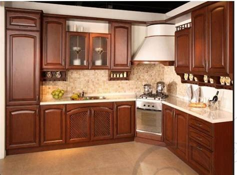 red cherry kitchen cabinets china red cherry solid wood brown color kitchen design