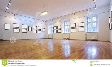 Photography Studio Floor Plans by Art Gallery With Blank Pictures Stock Image Image 13279545