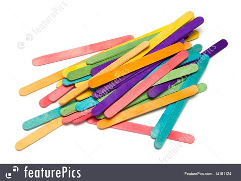 colored popsicle sticks pile of assorted colored craft sticks image