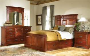 cherry wood bedroom furniture home with storage image