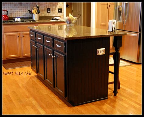 diy kitchen island from stock cabinets diy kitchen island update sweet silly chic