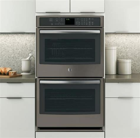 Slate (no fingerprints) Wall Oven PT7550EHES, GE