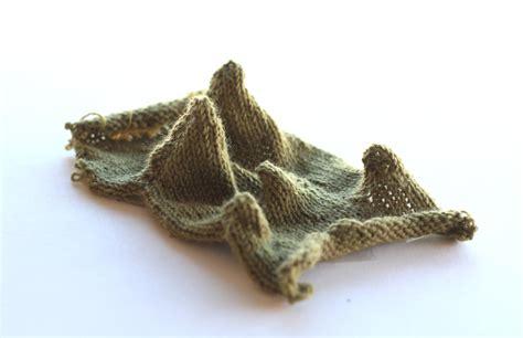 3d knit terrain knitted landscape new textiles 2012